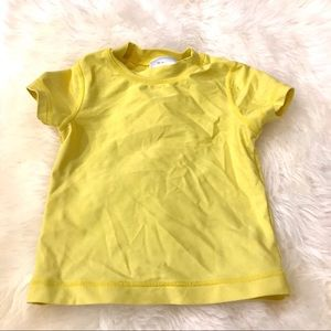 Hanna Andersson yellow 3t short sleeved rash guard